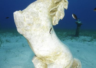 Cape Greco, clear, sea, horse, statue