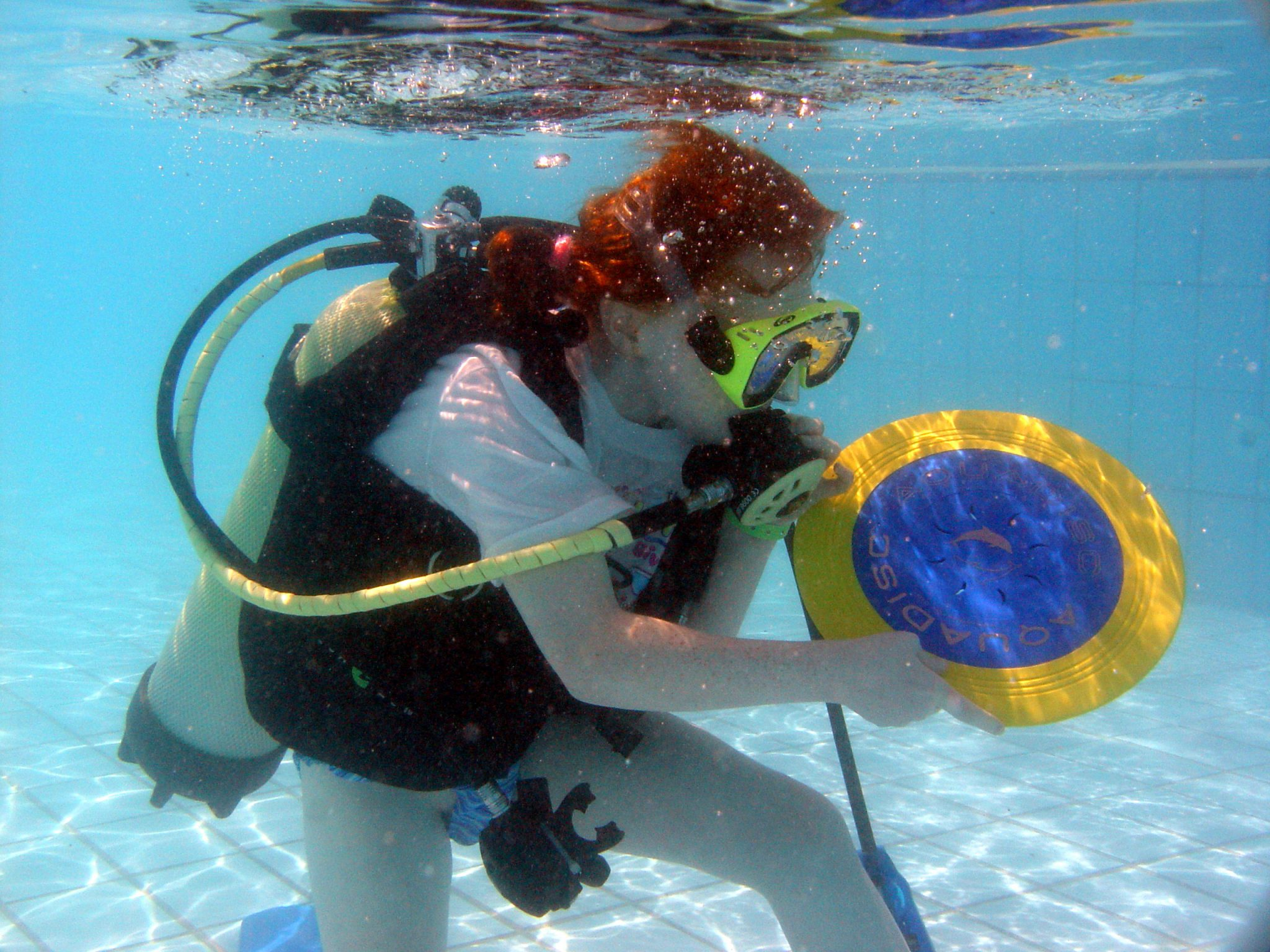 Introductory Diving, Bubblemaker, diving, kids, fun, frisbee, games