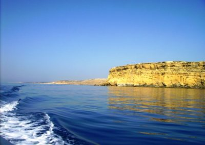 Akrotiri, cliff, wake, scenery, sea